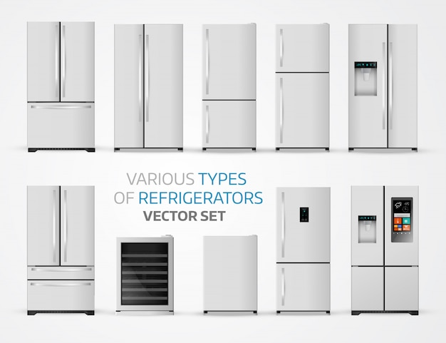 Variable types of refrigerators