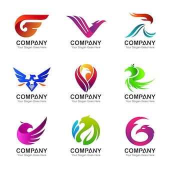 Variation of eagle logo collection