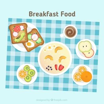 다양한 아침 식사