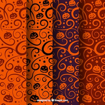 Variety of abstract halloween patterns