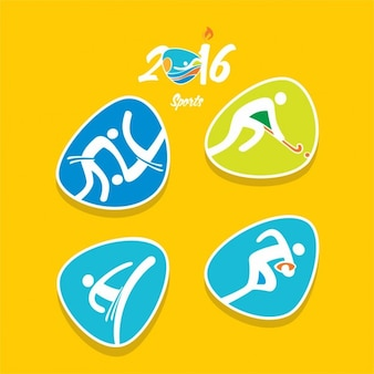 Variety of abstract olympic sports icons