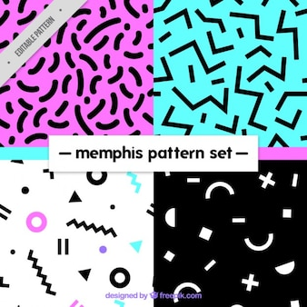 Variety of abstract patterns