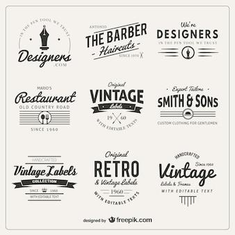 Variety of badges in retro style Premium Vector