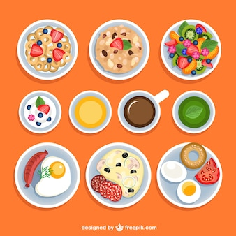 Variety of breakfasts