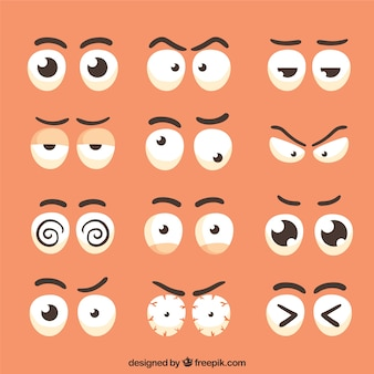 Variety of characters eyes