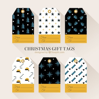 Variety of christmas gift tags