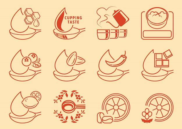 Variety of coffee taste graphic element