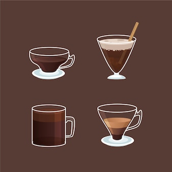 Variety of coffee types