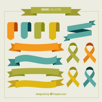 Variety of colored ribbons