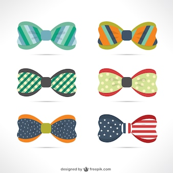 Variety of colorful bow ties