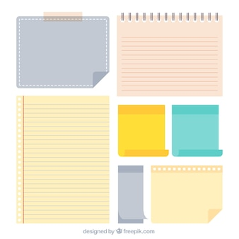 Variety of colorful sheets of paper