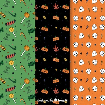 Variety of colours halloween seamless pattern
