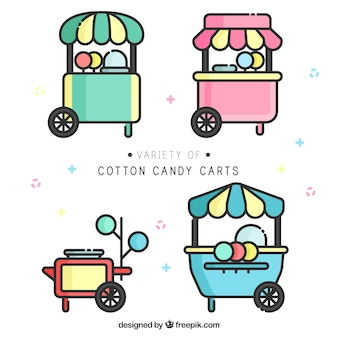 Variety of cotton candy carts