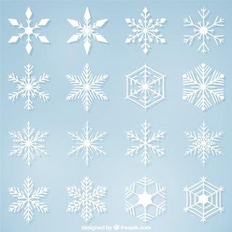 Variety of decorative christmas snowflakes