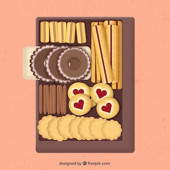 Variety of delicious biscuits