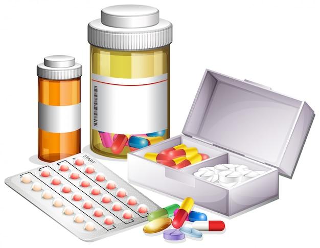 Variety of different medicine