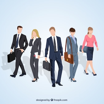 Variety of entrepreneurs illustration