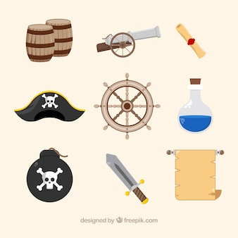 Variety of fantastic pirate items