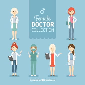 Variety of female doctors characters