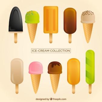 バラエティフラットアイスクリーム