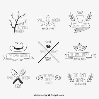 Variety of garden badges