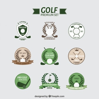 Variety of golf badges