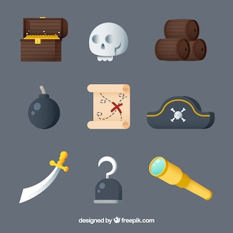 Variety of great pirate elements