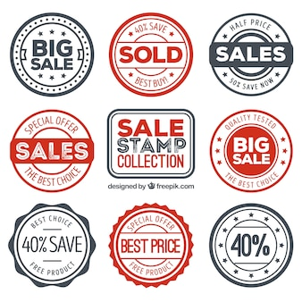 Variety of great stickers with special offers