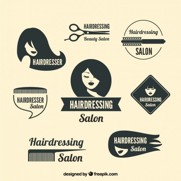 Variety of hairdressing logos