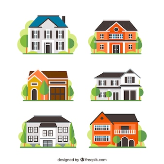 Variety of houses