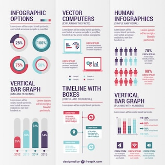 Variety of infographics Free Vector