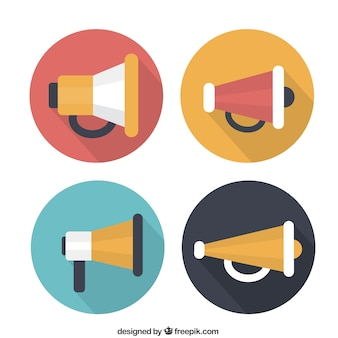 Variety of megaphone icons