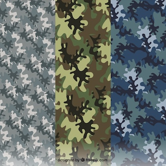 Variety of military patterns