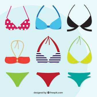 Variety of modern bikinis