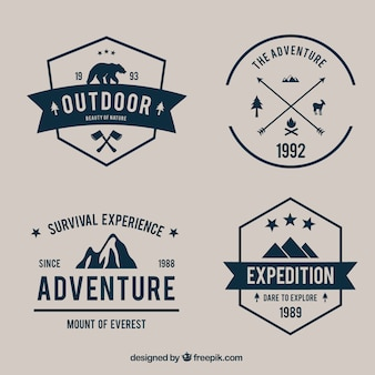 Variety of adventure badges pack