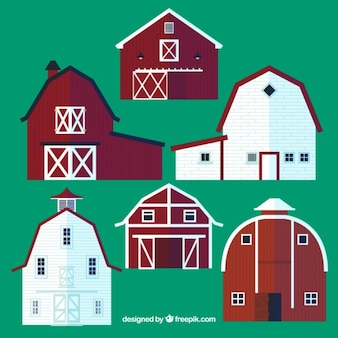 Variety Of Barns Set