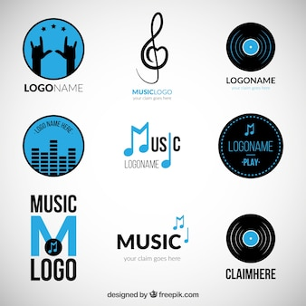 青音楽のロゴのバラエティ