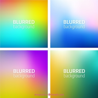 Variety of blurred backgrounds