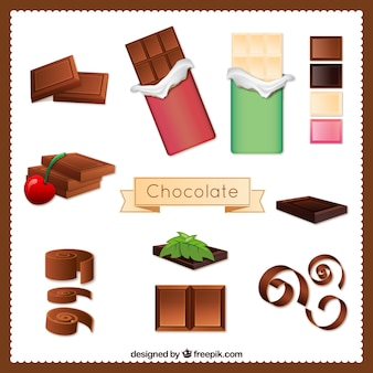 Variety of chocolate