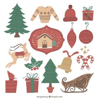 Разнообразие рождественских элементов