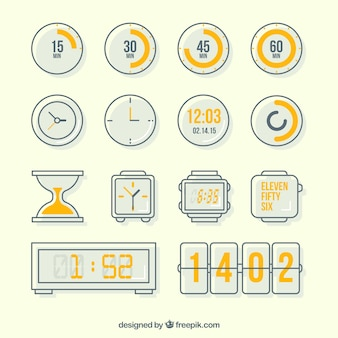 Variety of clock icons