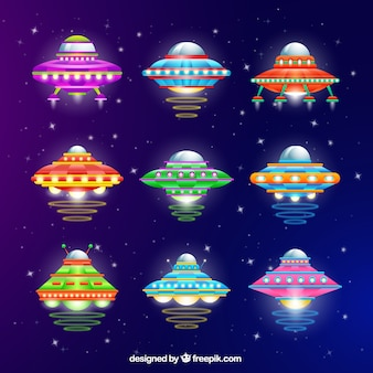 Variety of colorful ufo