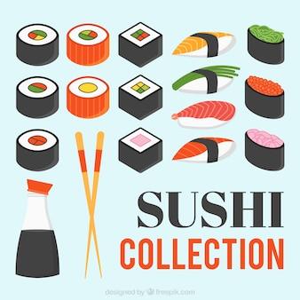 美味しい寿司の様々な