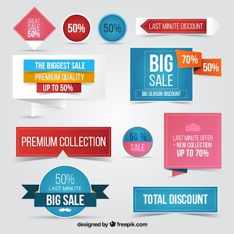 Variety of discount labels