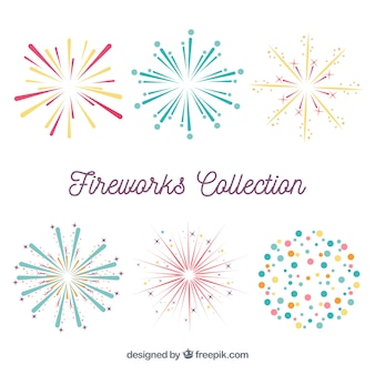Variety of fireworks