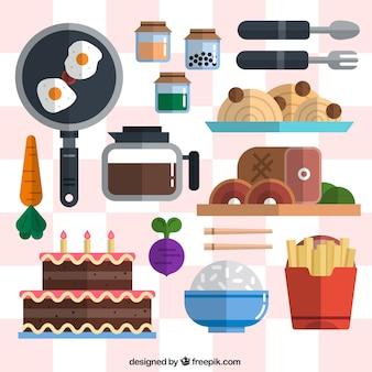 다양한 음식