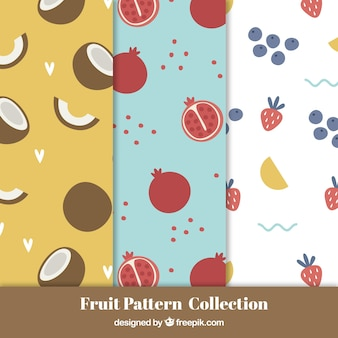 Variety of fruit patterns