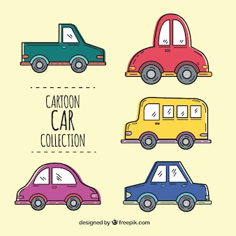 偉大な漫画の車の様々な