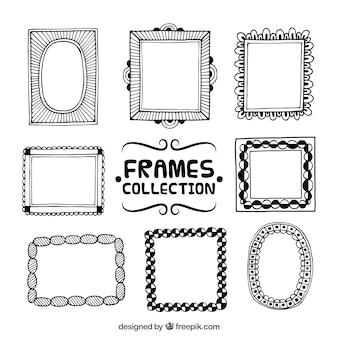 Variety of hand drawn ornamental frames