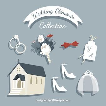 Разнообразие свадебных элементов ручной работы